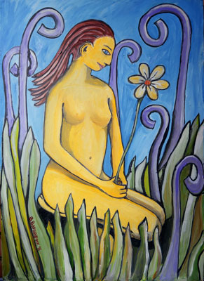 Ева с цветком